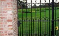 grille pierre et jardin